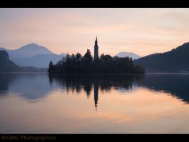 Lake Bled at Dawn III by GMCPhotographics