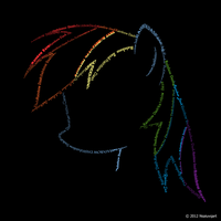 Rainbow Dash Typography by nsaiuvqart