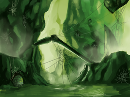Speedpaint - Digimon Link Spider Cave by Vinsuality