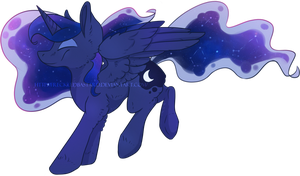 - Princess Luna - by FreckledBastard