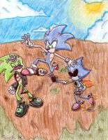 Sonic The Hedghog 191 Battle by SagaHanson25