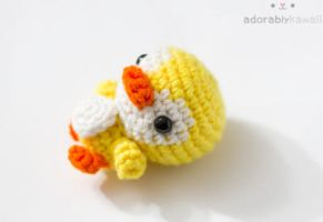 yellow penguin 2 by tinyowlknits