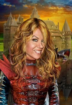 Jenna Elfman Queen by Hitspinner