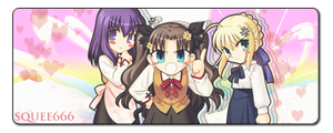 Fate Stay Night Chibi by Chaoticgamer