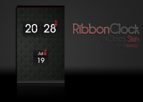 Ribbon mClock Skin by chrisbanks2
