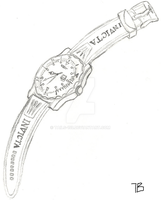 Invicta Pro Diver Drawing by Tails-155