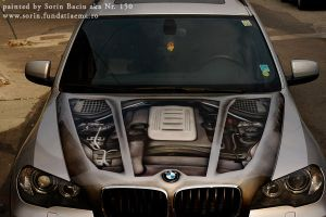 BMW x5 hood second view by nr150