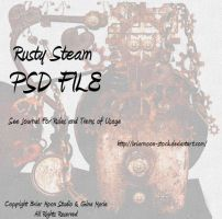 Rusty Steam Elements  PSD by briarmoon-stock