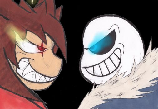 Yume VS Sans by TheDreamers555