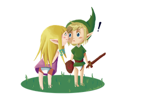 Zelda First Kiss by Liaelin