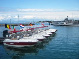 Boats in Peschiera by BLUE---WOLF