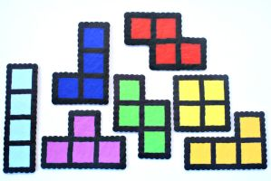 Perler Bead Tetris Blocks by LittleSymmetry