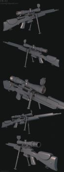 FR F2 sniper rifle by limiao
