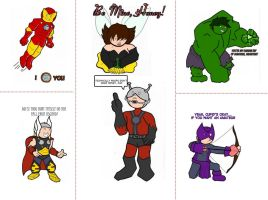 Avengers Valentines by luggagedragon