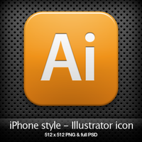 iPhone style - Ai CS3 icon by YaroManzarek