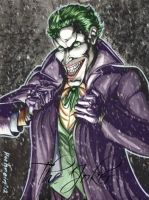 JOKER INK WASH COMMISSION by jokercrazy
