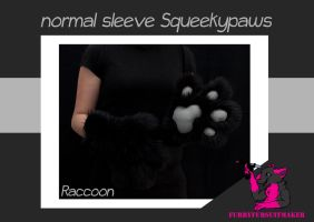 Normal sleeve Squeekypaws - Raccoon by FurryFursuitMaker