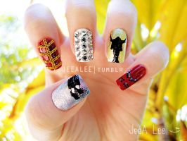 Michael Jackson Nails by jeealee
