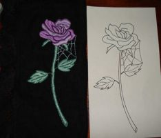 Gothic Rose Embroidery by becausecute