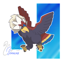 DAY 04 _  Favorite FLYING TYPE - BRAVIARY by FoMNLiNX