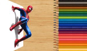 3-D Colored Pencil Drawing: The Amazing Spider-Man by JasminaSusak