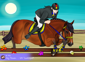 NEH and BWV Opening Event Showjumping - 4th PLACE by PinkLionArt