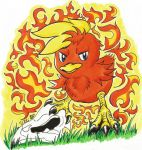 Badass Torchic (Art Trade) by UltimateGalaxia