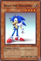 Sonic Yugioh Card by cardgames33