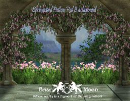 An Enchanted Patio Background by briarmoon-stock