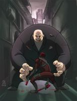 Daredevil vs Kingpin by Fpeniche