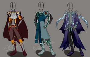 Male Outfit Designs [CLOSED] by JxW-SpiralofChaos