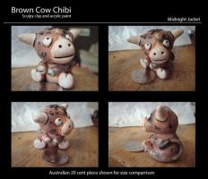 Brown cow chibi by MidnightJackel