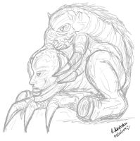 Some quick Sketch - Contra Boss by archaznable30