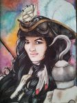Fem Captain Hook Watercolor by LadyduLac