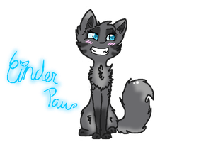 .:WARRIORS:. design for Cinderpelt/paw by owls1999