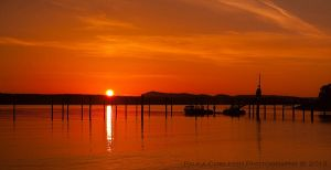 Orcas Island Sunset by La-Vita-a-Bella