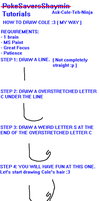 How to Draw Cole ( MY VERSION 8D ) by Khoall-teh-Ninja