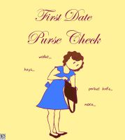 First Date Purse Check by DeeDraws