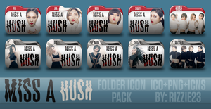 Miss A Hush Folder Icon Pack by Rizzie23
