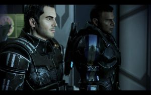 Kaidan and Vega by donabruja