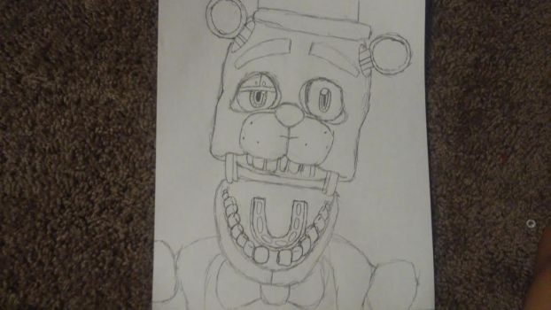 freddy jampscare uncolored by Th3Tur3GodMrbl3ach