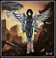 Scrap Iron City Angel by JohnGWolf