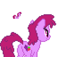 Berry Punch back sprite by fanofetcetera