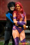 Smiles : Nightwing and Starfire by Lossien