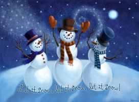 Let It Snow Snowmen by Nyrak