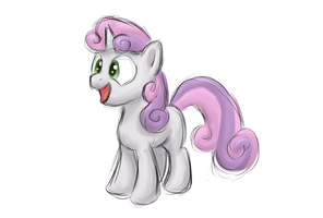 Sweetie Belle sketch by Bill-the-Pony