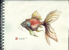 Watercolour Fishy by Bendragonx