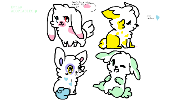 (FREE) Bunny Adoptables by PastelCrystal1