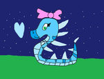 RosyViper as an ice snake by Sparkledoll2