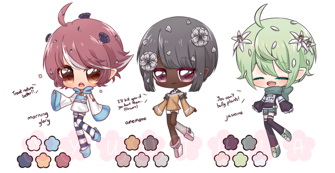 [Adopt] Flower Elves [Pending] by Syunthia